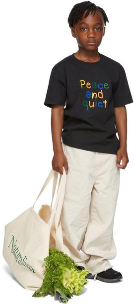 Museum of Peace & Quiet SSENSE Exclusive Kids Black Scribble Big Kids T-Shirt