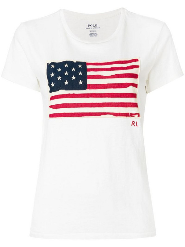 Polo Ralph Lauren American Flag T-shirt in neutrals