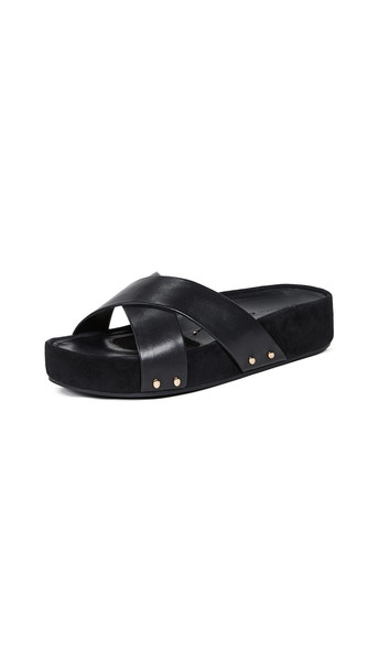 Stella Luna Wrapped Slide Sandals in black