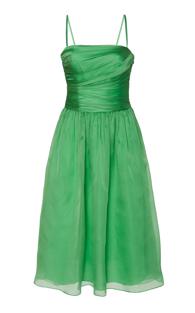 Ralph Lauren Annora Organza Fit-And-Flare Dress Size: 0 in green