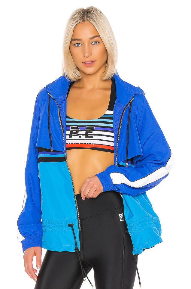 P.E Nation Trackbar Jacket in blue