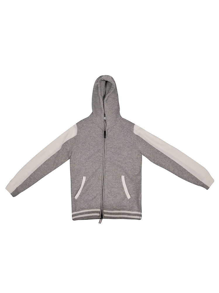 Paolo Pecora Zip-up Hoodie in grey / white