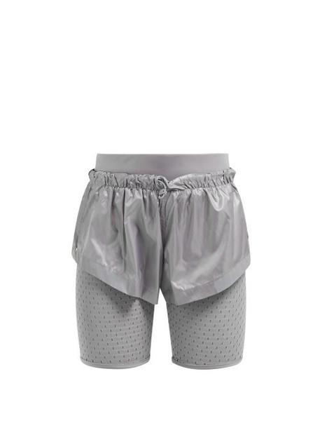 Adidas By Stella Mccartney - Run Mesh Panel Performance Shorts - Womens - Silver