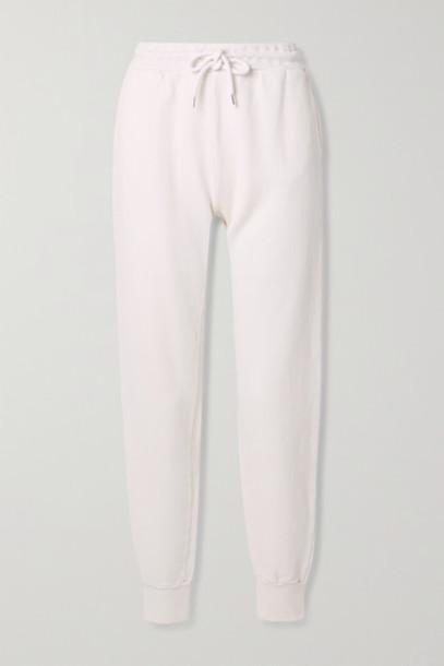 Anine Bing - Saylor Cotton-jersey Track Pants - Ivory