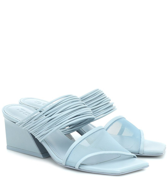Mercedes Castillo Evalyn leather sandals in blue