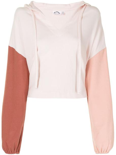 The Upside Noelle colourblock cotton hoodie - Pink