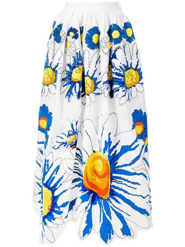 Yuliya Magdych 'Loves Me Loves Me Not' full skirt in white