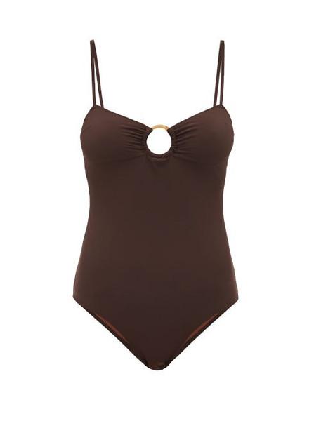 Belize - Malia Scoop Back Swimsuit - Womens - Brown