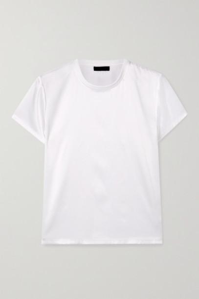ATM Anthony Thomas Melillo - Silk-blend Satin T-shirt - White