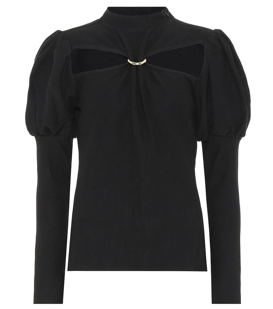 Cult Gaia Mora cotton blouse in black