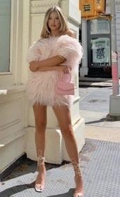 dress,fancy,pink,baby pink,ruffle,pink dress,cute,mini dress