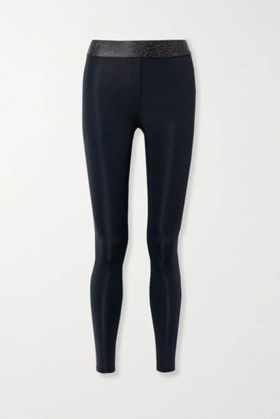 Heroine Sport - Twilight Stretch And Lurex Leggings - Black