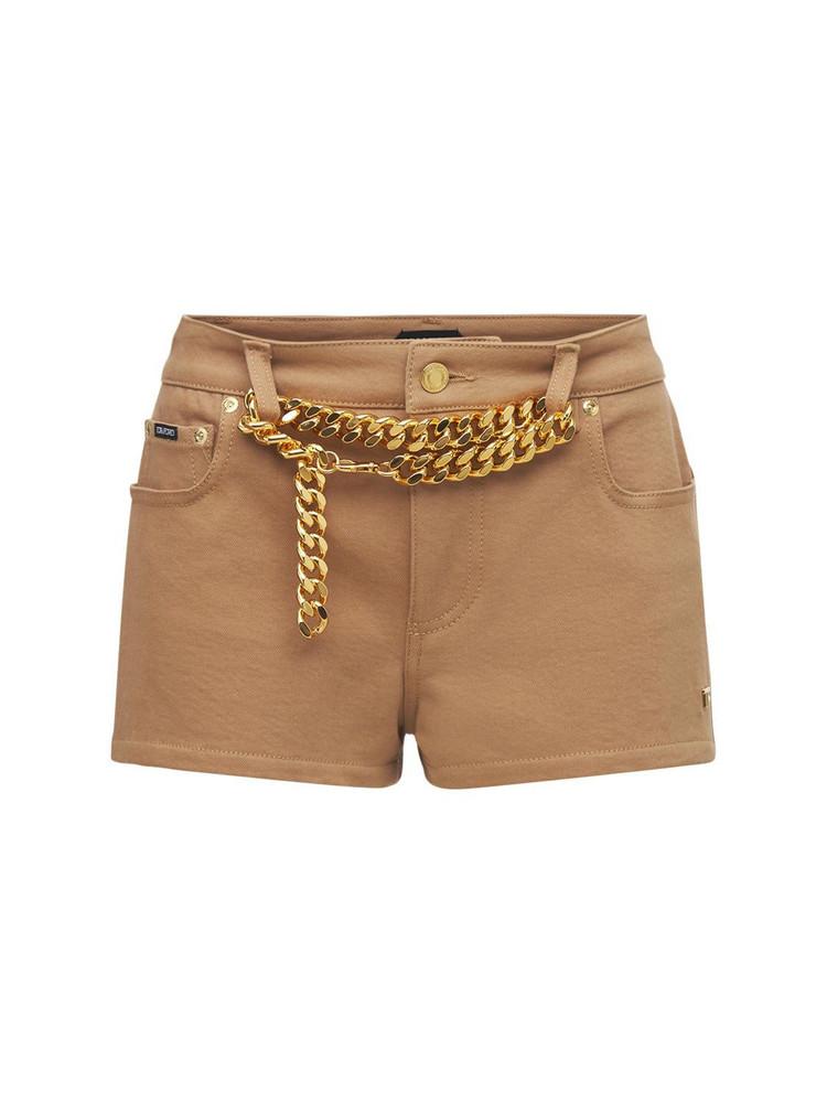 TOM FORD Technical Twill Stretch Mini Shorts in camel