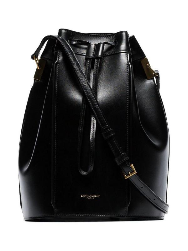 Saint Laurent medium Talitha bucket bag in black