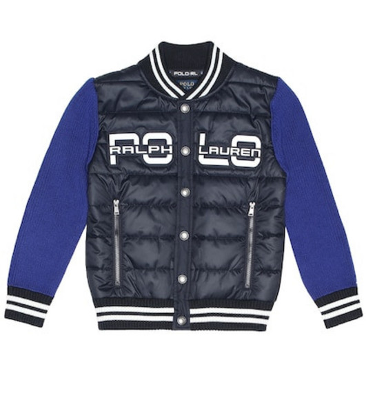 Polo Ralph Lauren Kids Quilted cotton-blend jacket in blue
