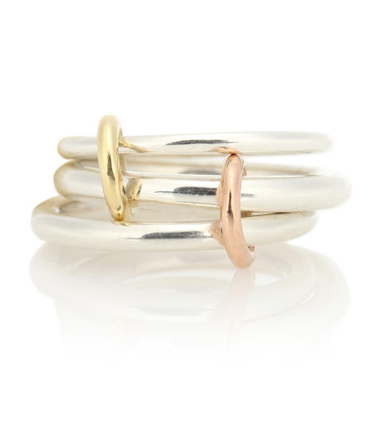Spinelli Kilcollin Daphne 18kt gold and sterling silver linked rings