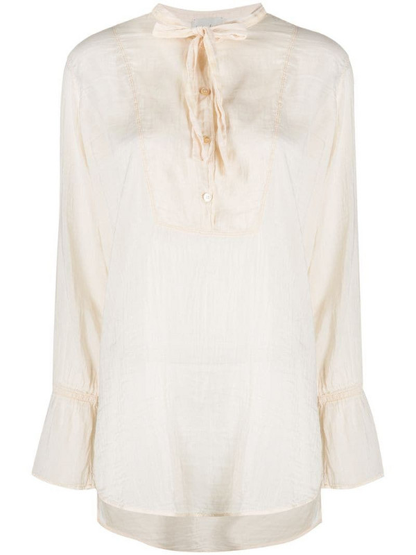 Forte Forte relaxed neck-tied blouse in neutrals