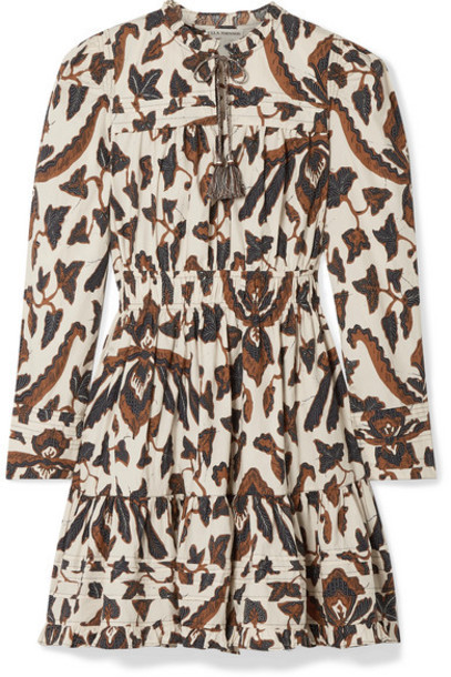 Ulla Johnson - Ismaya Tiered Printed Cotton-poplin Mini Dress - Brown