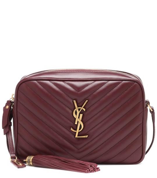 Saint Laurent Lou Camera leather crossbody bag in red