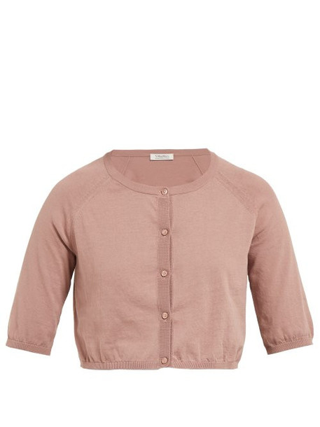 S Max Mara - Fragola Cardigan - Womens - Light Pink