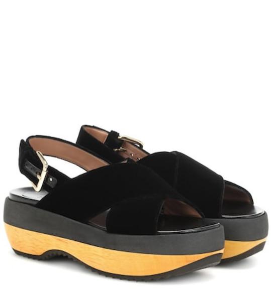 Marni Velvet sandals in black