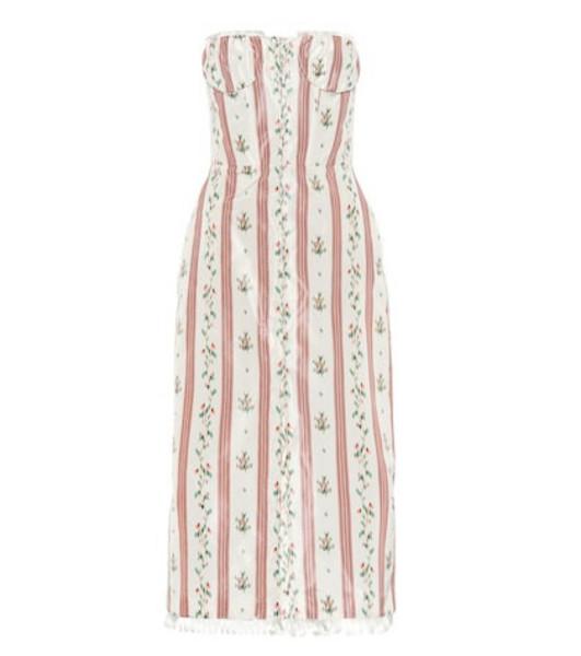 Brock Collection Olgha silk-blend taffeta midi dress in pink