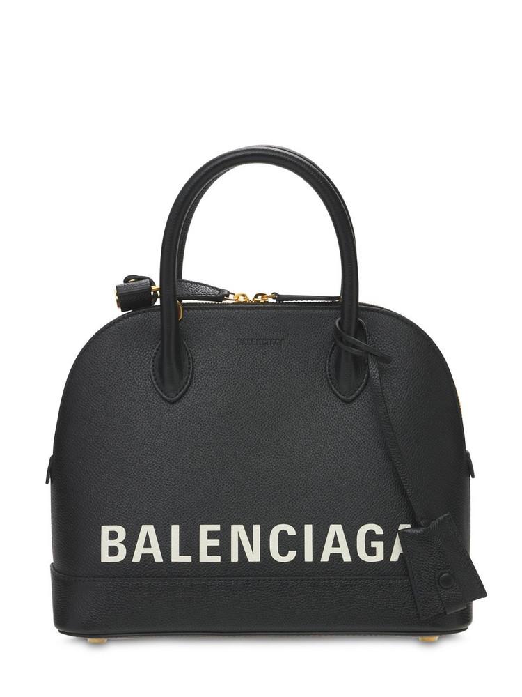 BALENCIAGA Small Ville Leather Top Handle Bag in black