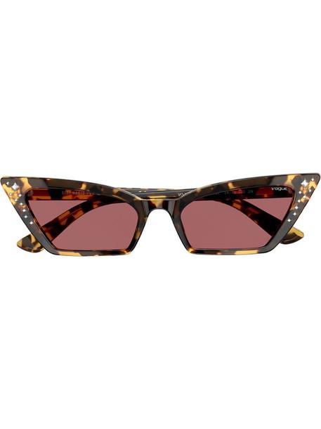 Vogue Eyewear Super studded sunglasses in brown