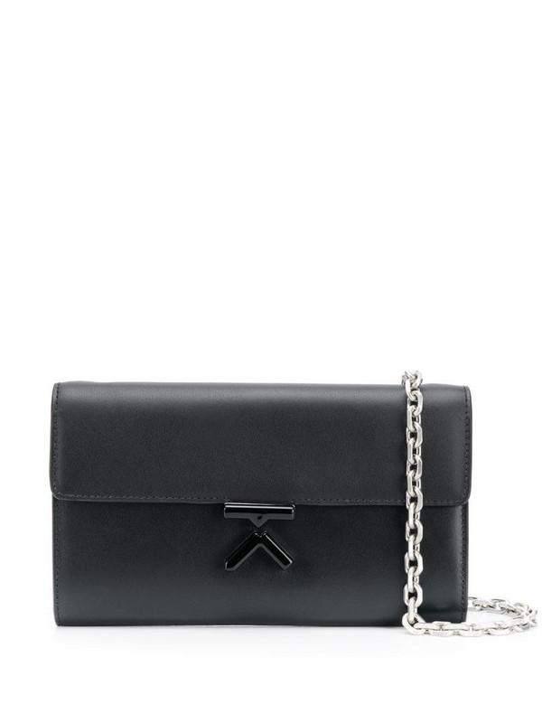 Kenzo K fastening cross body bag with chain shoulder strap in black