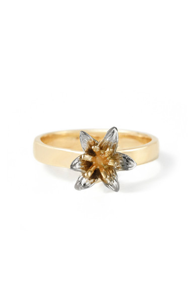 Bernard James Lily 14K Yellow and White Gold Ring in multi