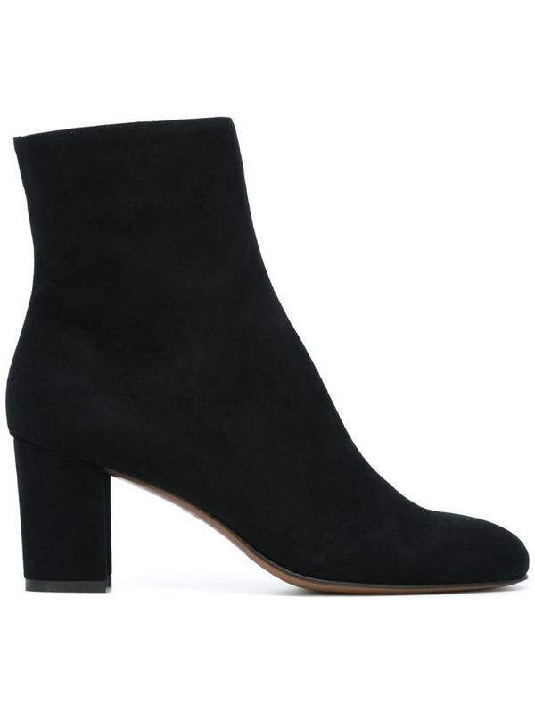 L'Autre Chose round toe ankle boots in black