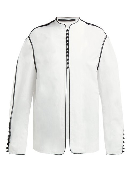 Haider Ackermann - Soutache Braid Cotton Blend Jacket - Womens - White Black