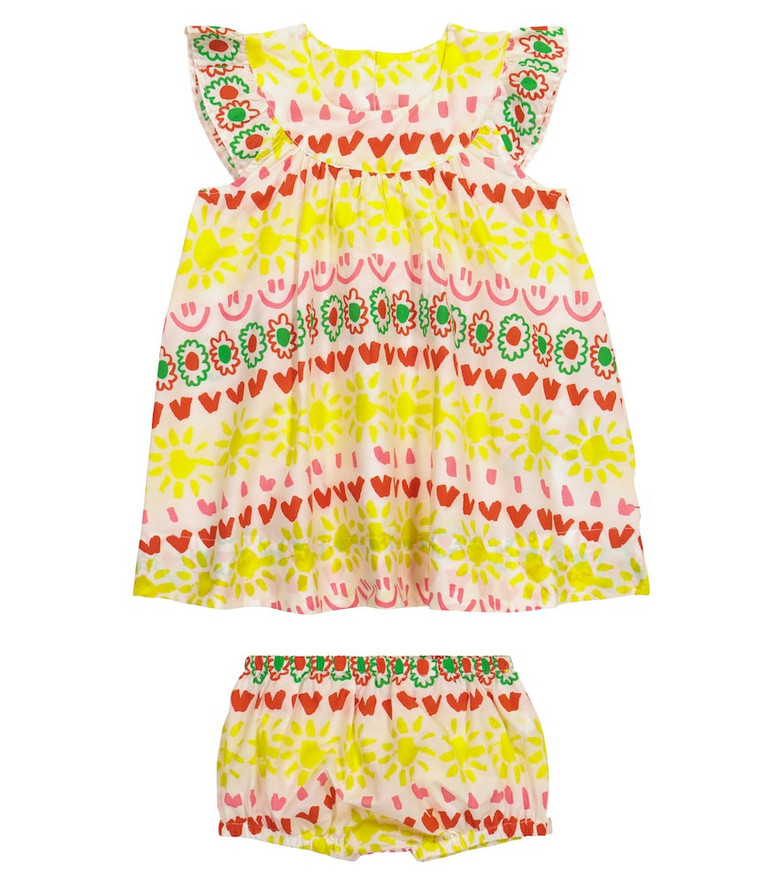 Stella McCartney Kids Baby printed cotton dress and bloomers set