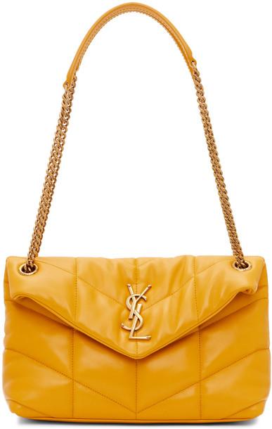 Saint Laurent Yellow Small Loulou Puffer Bag