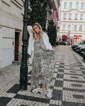 shoes,sneakers,balenciaga,maxi dress,sleeveless dress,black and white,white shirt