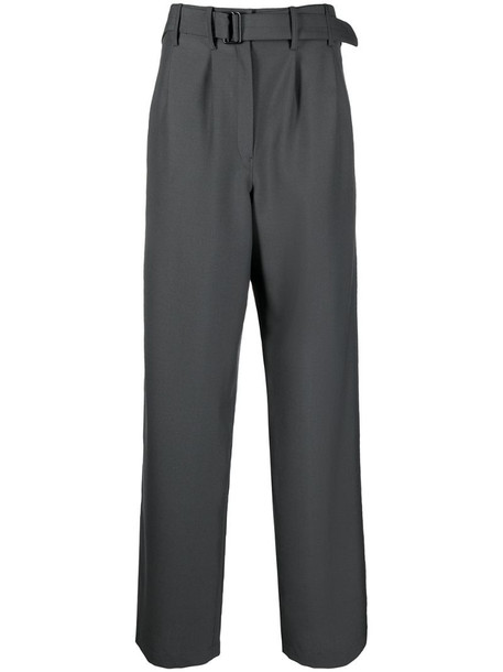 Lemaire belted high waisted trousers in grey