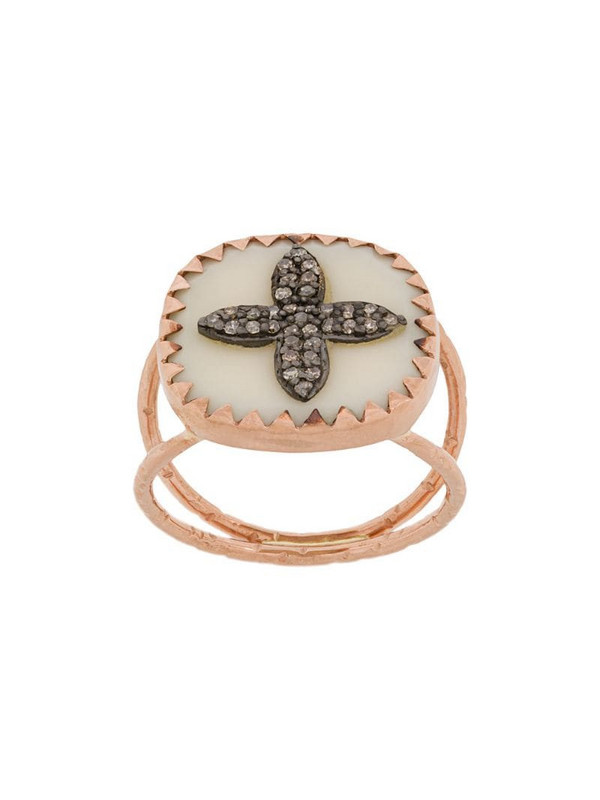 Pascale Monvoisin 9kt rose gold BOWIE N°2 WHITE DIAMOND ring