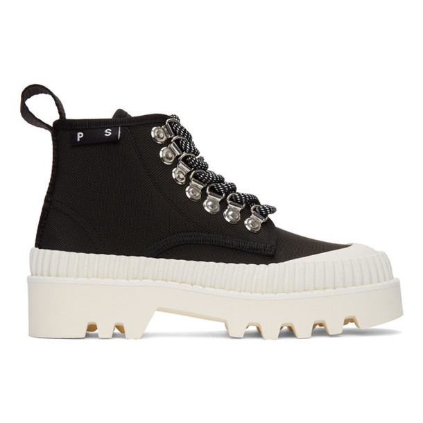 Proenza Schouler Black and White Hiking Boots