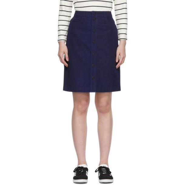 A.P.C. A.P.C. Indigo Denim Therese Miniskirt