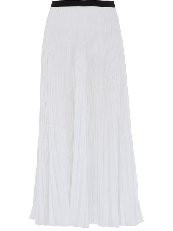 Prada pleated midi skirt in white