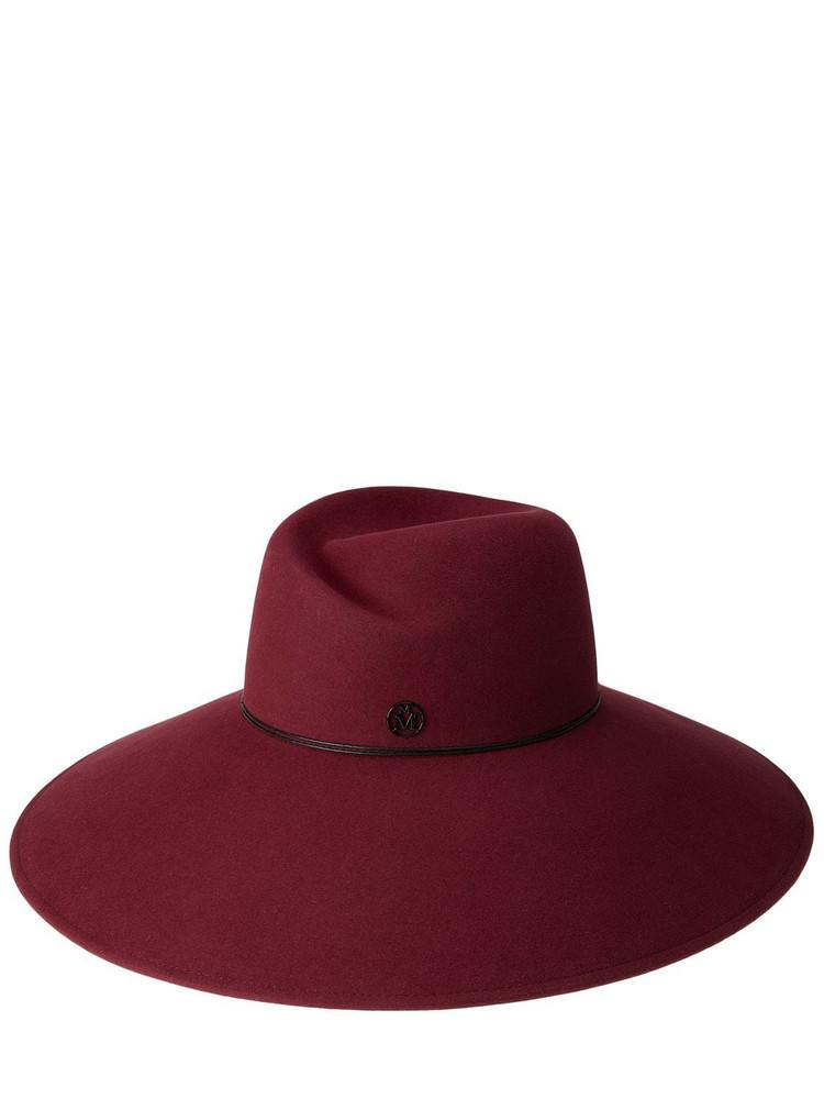 MAISON MICHEL Big Virginie Felted Wool Hat in burgundy