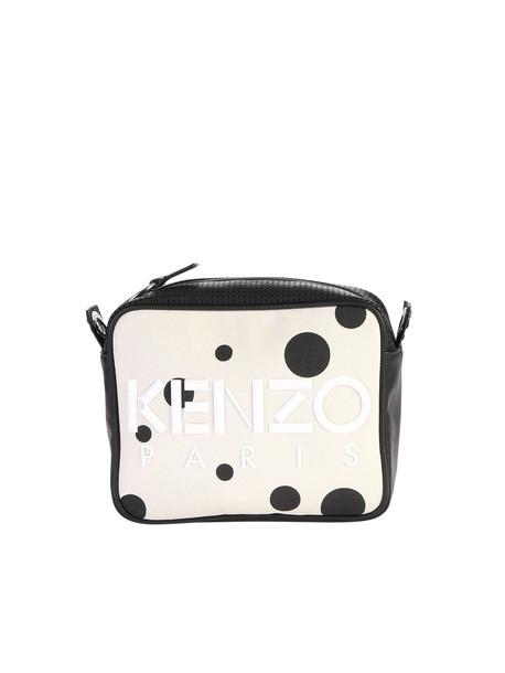 Kenzo Polka Dot Print Canvas Camera Bag