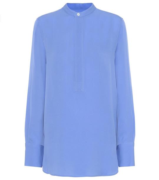 Polo Ralph Lauren Silk-georgette shirt in blue