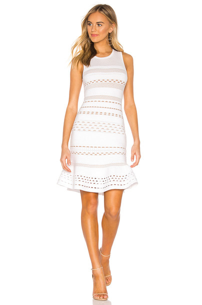 Bailey 44 Crepe Susette Sweater Dress in white
