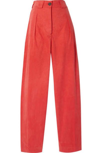 Mara Hoffman - Jade Herringbone Tencel And Organic Cotton-blend Tapered Pants - Papaya