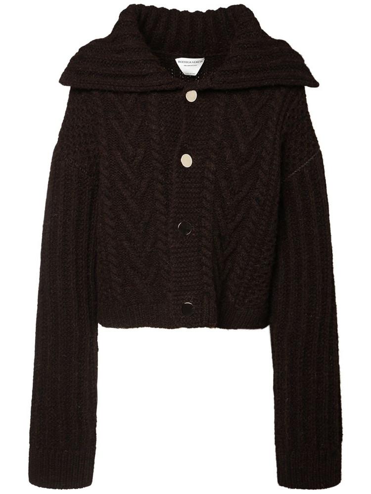 BOTTEGA VENETA Patchwork Shetland Tweed Jacket in brown