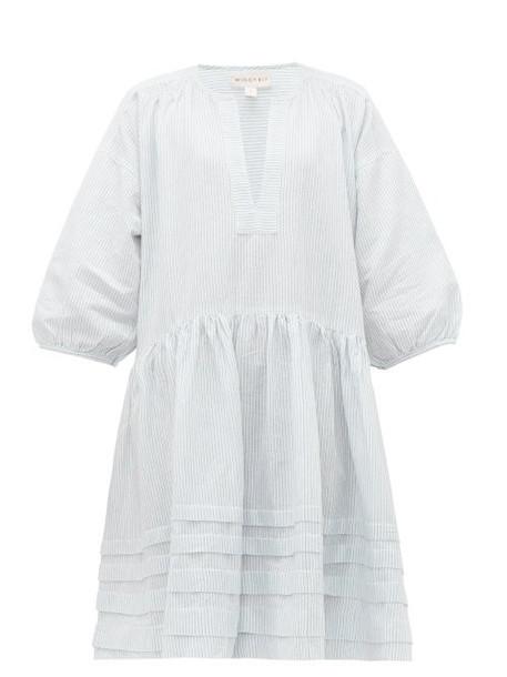 Wiggy Kit - Painter's Striped Cotton Dress - Womens - Blue Stripe