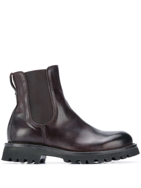 Moma calf leather boots in brown