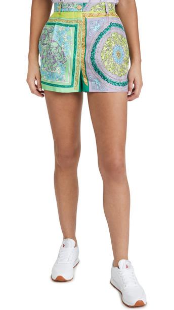 Versace Barocco Patchwork Silk Shorts
