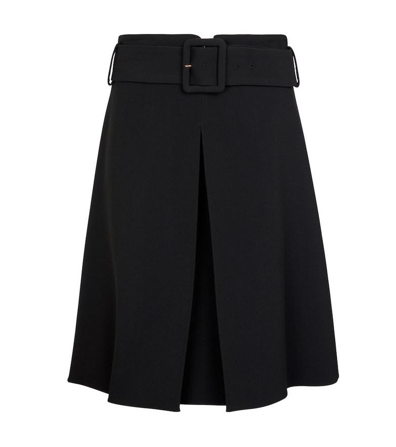 Versace Belted envers satin miniskirt in black